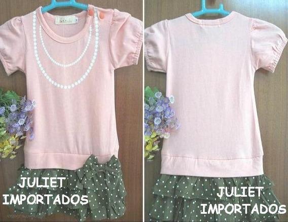 Cod 037 - Vestido Infantil Menina Importado 4 - 5 Anos