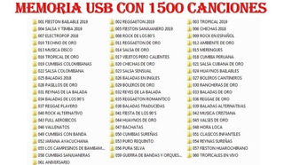 Musica- Memoria Usb Kingston 16gb Con 1500 Canciones