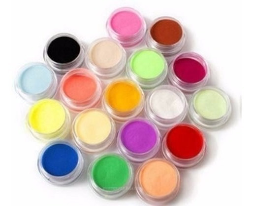 Polimero De Colores Lisos Caja X 12 Unidades Uñas Acrilicas