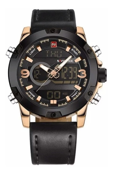 Relógio Masculino Naviforce 9097 Couro Social Luxo Original