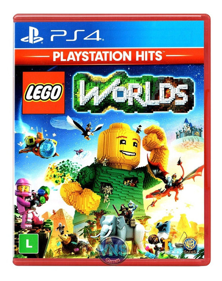 Lego Worlds - Ps4 - Playstation 4 - Mídia Física - Novo