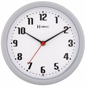 6102 - Relógio De Parede Branco 1 Ano De Garantia Herweg