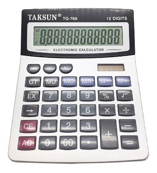 Calculadora Solar Digital Eletrônica De Mesa 12 Dígitos