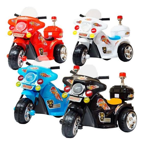 Mini Moto Elétrica Infantil Bateria Luz Som Varias Cores