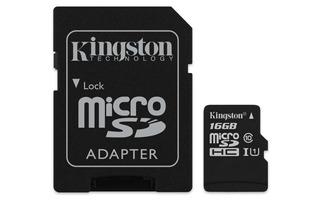 Cartão De Memória Canvas Select Micro Sd 16gb Kingston