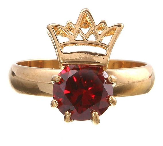 Anel Feminino Pingente Coroa Princesa Rainha Mulher Dia 829