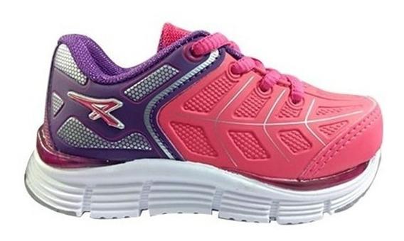 Zapatillas Para Niña Athix Violeta/pink