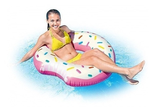 Flotador Dona Inflable 107cm Playa Piscina Intex 59265