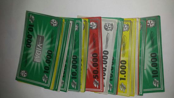 Lote De Notas Dinheiro Do Jogo Da Vida Estrela