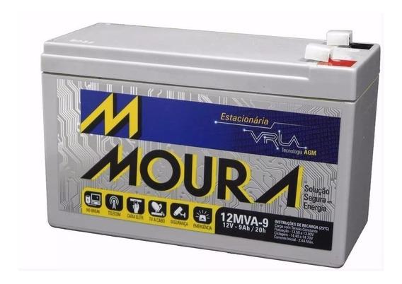 Bateria Moura Vrla Selada 12v 9ah Alarme / Nobreak