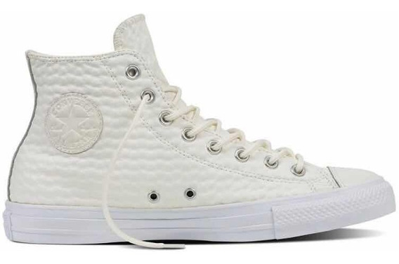 Zapatillas Converse 153563c Ctas Leather Hi White
