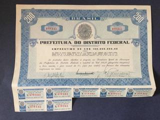 Apólice 1944 Prefeitura Do Distrito Federal 200 Cruzeiros