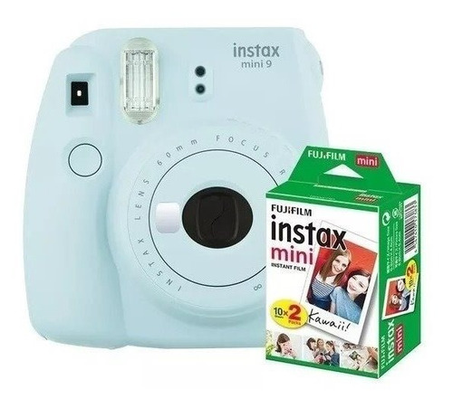 Câmera Instantânea Fuji Instax Mini 9 Azul Aqua + 20 Filmes