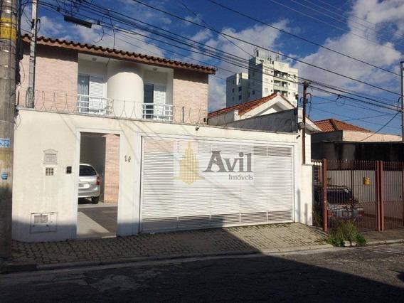 Sobrado Com 4 Dormitórios À Venda, 300 M² Por R$ 1.600.000 - Alto Da Mooca - São Paulo/sp - So0496