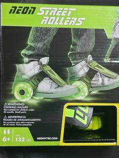 Patines Street Roller Con Luces De Neón P/ Zapatos Niños