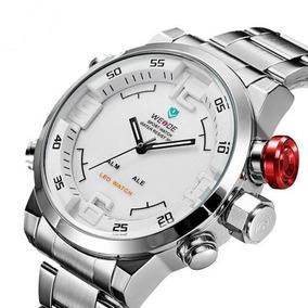 Relógio Masculino Anadigi Weide Casual Wh-2309 Branco Preto