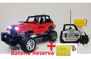 Carrinho Jeep Recarregável De Controle + Bateria Reserva
