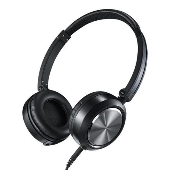 Fone De Ouvido Headphone On-ear Yoga Cd-46 Preto