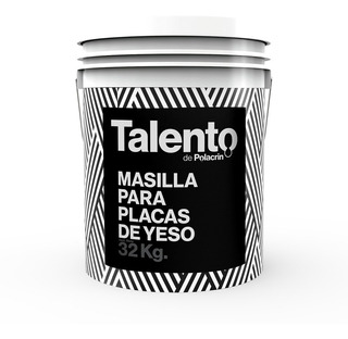 Masilla Placas De Yeso Para Durlock X 32kg Talento Polacrin - Prestigio