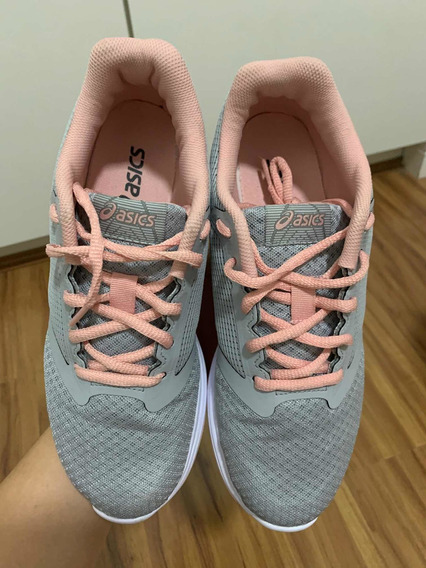 Tênis Asics Patriot 10a/ Mid Grey/ Frosted Rose Número 35