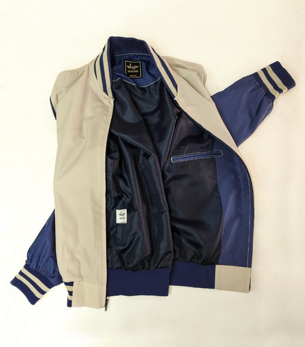 Chaqueta Hombre Sport Beige - Azul