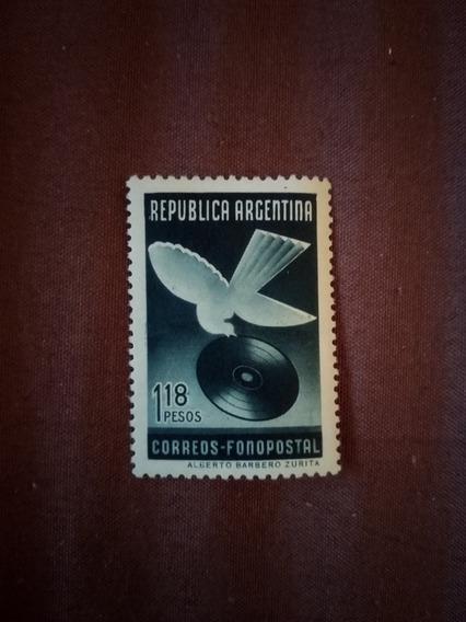 Estampilla Argentina Correos Fonopostal Año 1939 Sello 409