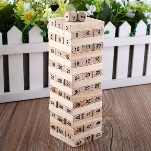 Jenga Juego Yenga 54 Piz Mediano Torre Bloques Envio Rapido