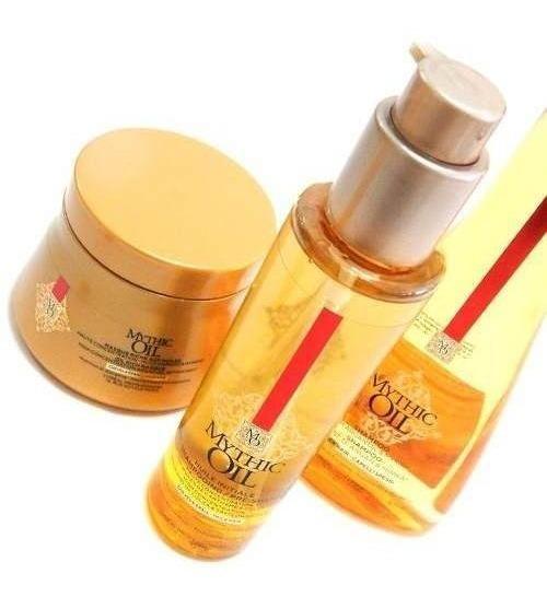 Loreal Mythic Oil Pre Shampoo X150 Shampoo X250 Máscara X200