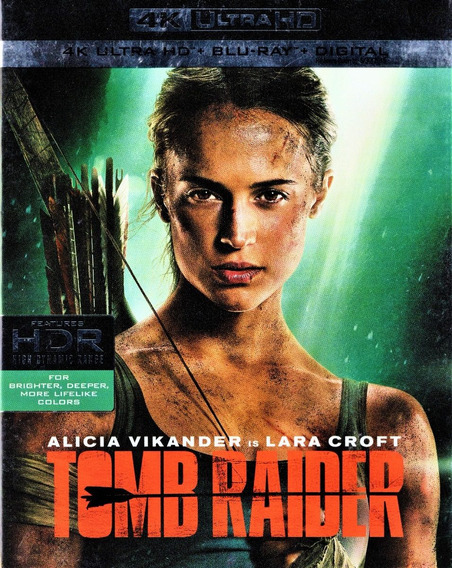 Tomb Raider Alicia Vikander Pelicula 4k Ultra Hd + Blu-ray