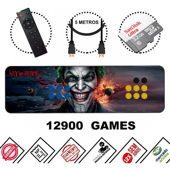Arcade Portátil Fliperama Mais De 12 Mil Jogos Completo