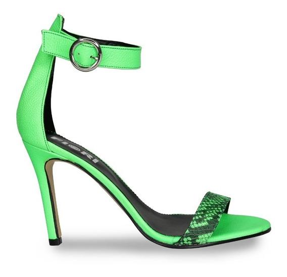 Sandalia Mujer Fiori Modelo 4701 Verde Naranja