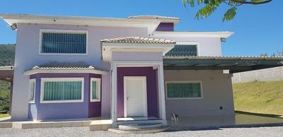 Casa Moderna Num Terreno Com 3.000 M² Plano, Já Murado , Com Casa Moderna, Casa De Hóspedes, Pomar, Canil, Horta, De Frente Para A Reserva/ Montanha. - Ca1376