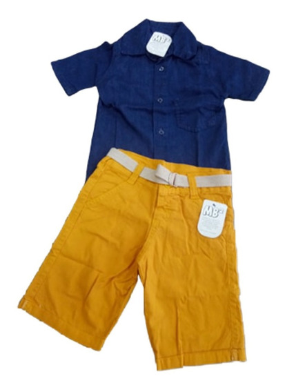 Conjunto Infantil Jaqueta Jeans Mascul Tamanho 1 2 3 4 5 Ano