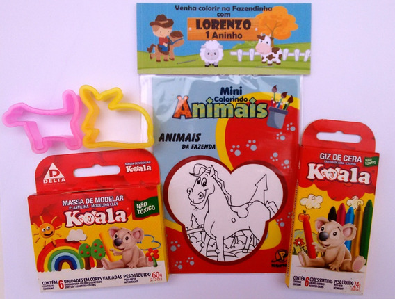 30 Kits Livro De Colorir + Giz + Massinha + Moldes Temas