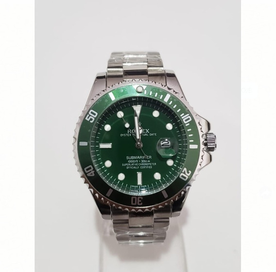 Relógio Masculino Silver Green
