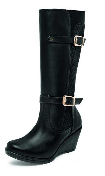 Bota Larga Negro Dama Zapato Mujer Casual Envio Gratis 4660