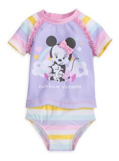 Vestido De Baño De Dos Piezas Para Bebé Minnie Mouse Disney