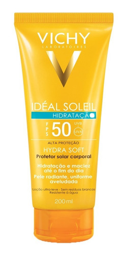 Idéal Soleil Fps 50 Hidratação Vichy - Protetor Solar Corporal 200ml