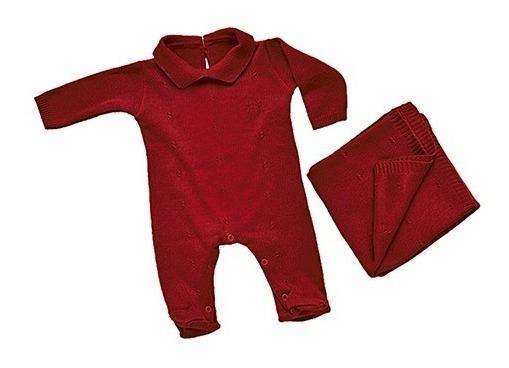 Saída De Maternidade Rn Le Tricot Vermelho Colibri