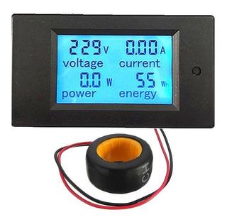 Voltímetro Digital Ac . Wattímetro Amperímetro Kilowatts H