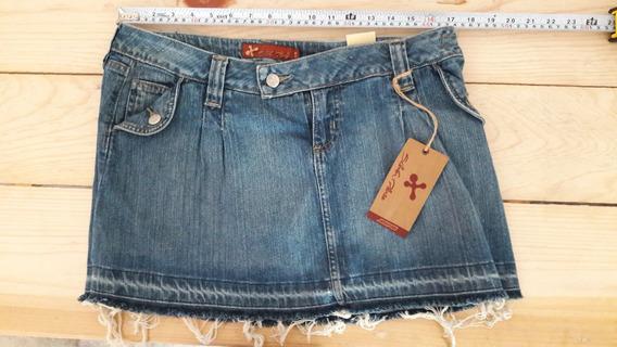Minifalda Talla 13 Mezclilla Vintage