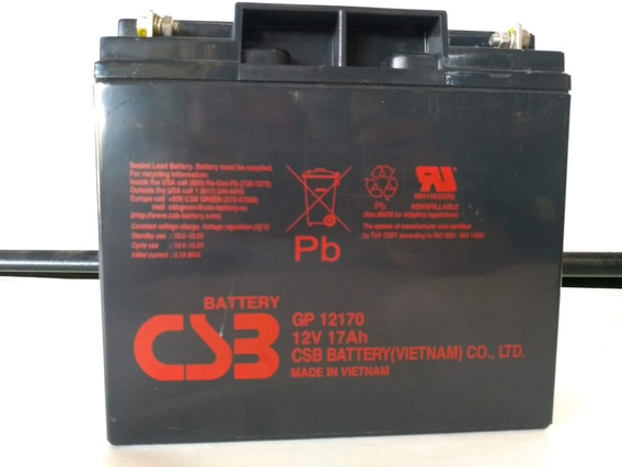 Bateria 12v 17ah Csb No Break Sms Gp12170 175,00