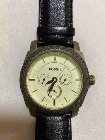 Relógio Fossil Modelo De 5015 Couro Preto