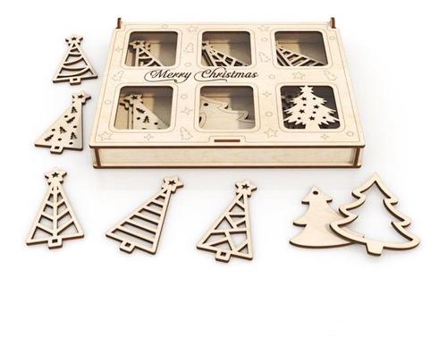Imagen 1 de 5 de Kit 60 Decoraciones Para Árbol De Navidad Varias Temáticas