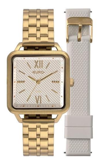 Relógio Feminino Euro Eu2036ypg/t4b 33mm Aço Dourado