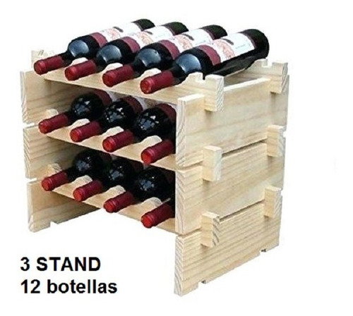 Botellero Stand Sobremesa Apilable 12 Botellas Envio Gratis