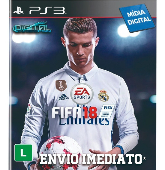 Fifa 18 Ps3 Psn Digital Game Envio Já!