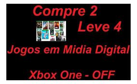 Compre 2 Leve 4 Jogos Midia Digital Xbox One