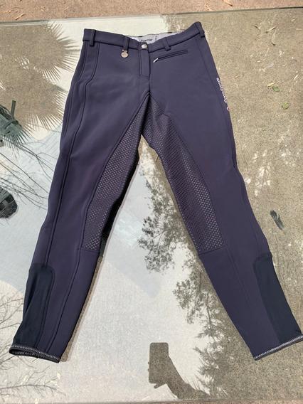 Pantalones Equitación Marca Pikeur Latina Grip Softshel Azul