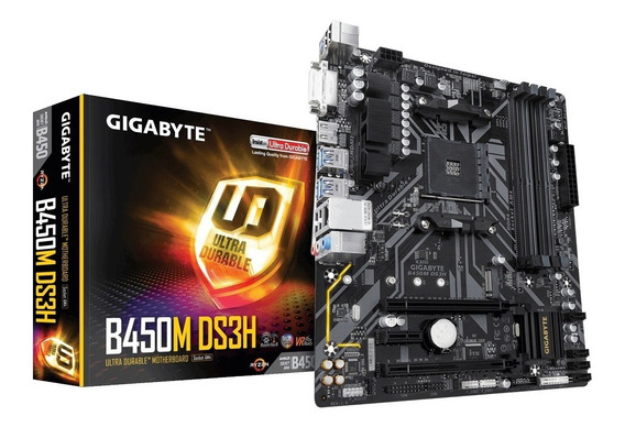 Placa Mãe Gigabyte B450m Ds3h Amd Am4 Ddr4 Ryzen B450
